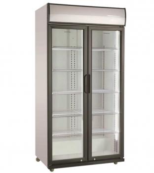 Getränkekühlschrank 2 Glastüren   590 Ltr   B870xT605xH1981 mm