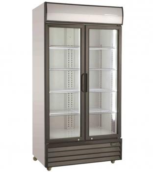 Getränkekühlschrank 2 Glastüren   1000 Ltr   B1130xT720xH2020 mm