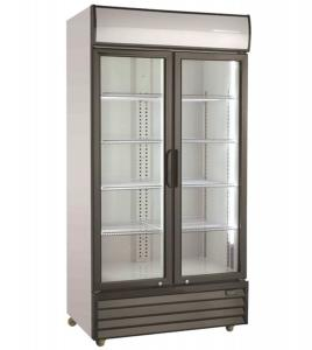 Getränkekühlschrank 2 Glastüren   800 Ltr   B1000xT720xH2019 mm