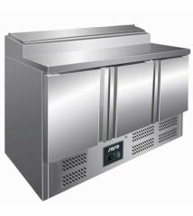 Pizza Zubereitungstisch mit 3 Türen   Breite 137 cm