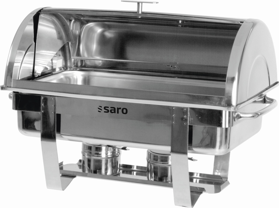 Gastro Hot Chafing Dish With Roll Top Cover 1 1 Gn Model Dennis